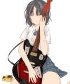 濡れギター女子高生