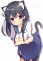 潮ちゃんに猫耳とかタイツを装着してもらったり…!/めがりす;