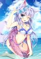 水遊び狐っ娘さん