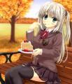 ケーキと紅葉♪